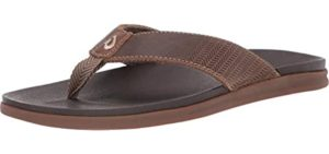 Olukai Men's Alania - Comfortable Beach Flip Flops