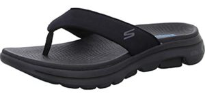 Skechers Men's Go Walk - Memory foam Flip Flops