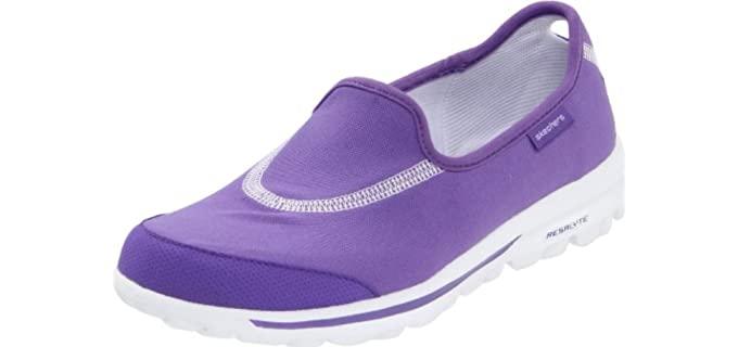 Skechers Women's Performance Go Walk - Wide Fit Slip On Shoes