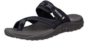 Skechers Women's Reggae-Trailway - comfortable Memory Foam Sandals