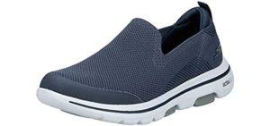 Skechers Men's Go Walk 5 Slip-On - Slip-On Plantar Fasciitis Shoes