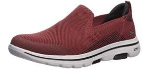 sKECHERS Men's Go Walk 5 - Slip On Diabetic Walking Shoe