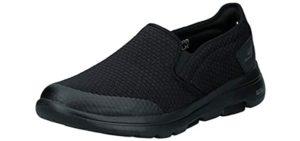 Skechers Men's Performance Go Walk 5 Slip-On - Slip On Shoes for Knee Problems