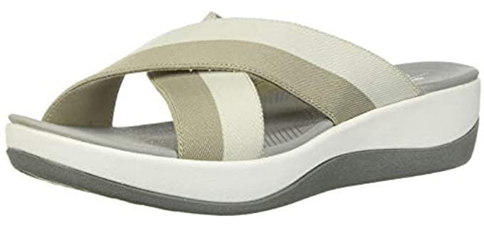 Clarks Women's Arla Elin - Slide Sandal  for Varicose Veins