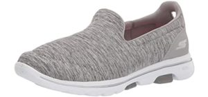 Skechers Women's Go Walk 5 Lace Up - Comfortable Long Distance Walking Shoes