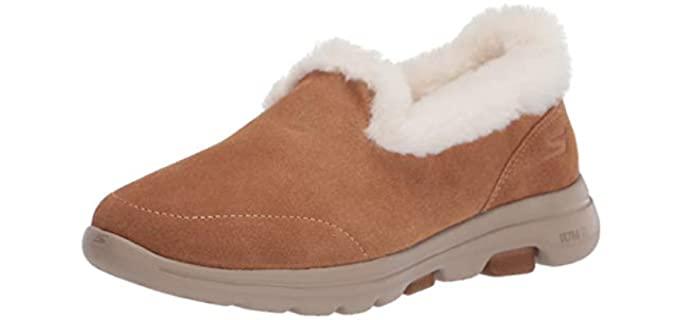 Skechers Women's Loafers - Faux Fur Winter Slippers