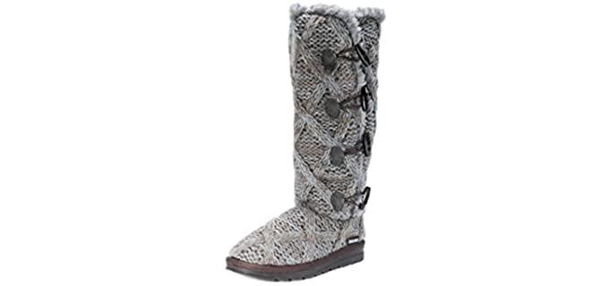 Muk Luks Women's Felicity - Rubber Sole Bootie Slippers