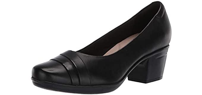 Dr Scholl's Women's Emslie Mae - Basic Black Comfortable Work Pump