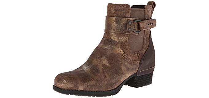 Merrell Women's Shiloh - Pull on Boot that Accommodates Orthotics