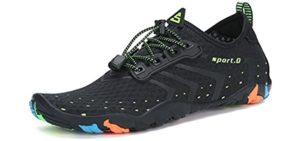 Mishansha Men's Quick-Dry - Snorkeling Minimalist Water Shoes
