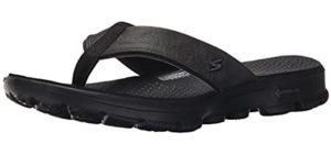 Skechers Men's Performance Go Walk - Comfortable Flip Flops