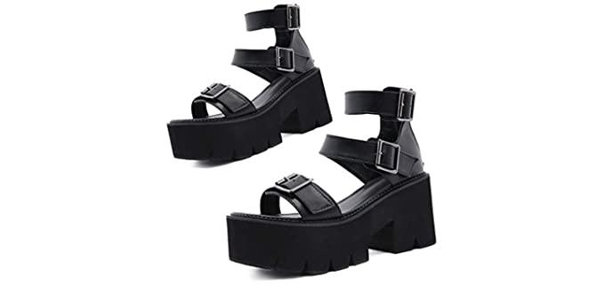 Summer Women's Platform - Goth Style Shoes