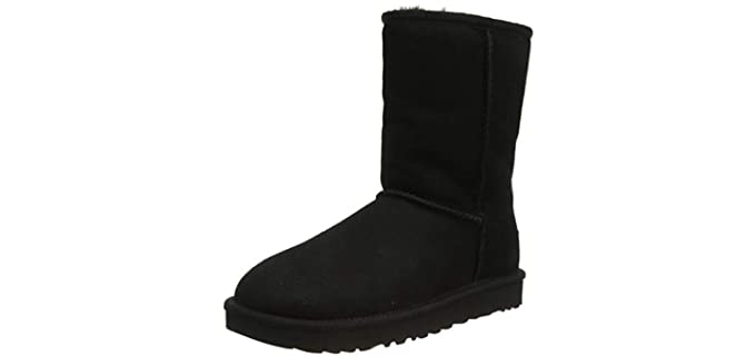 UGG Women's Classic - Rubber Sole Bootie Slippers