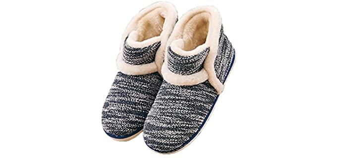 GaraTia Women's Vintage - Rubber Sole Bootie Slippers