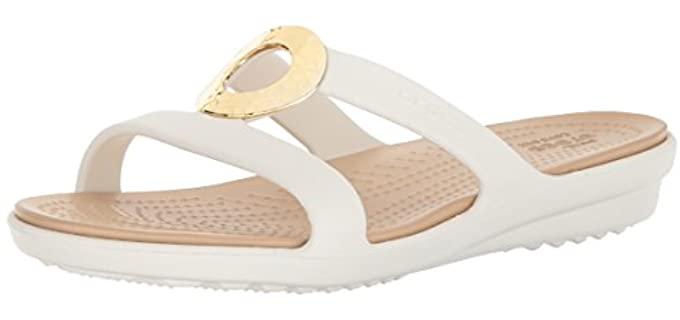 Crocs Women's Sanrah Hammered - Slide in Strap Sandal For Teachers