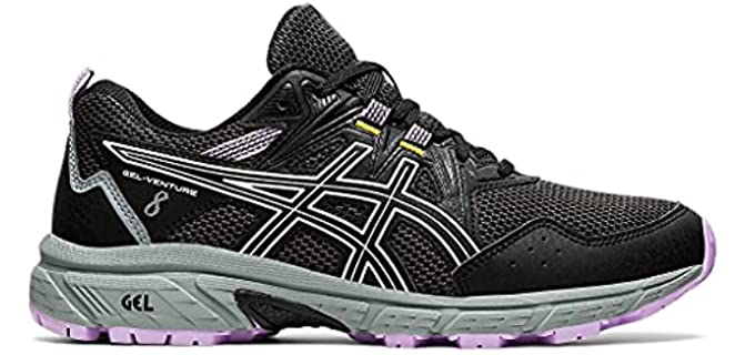 Asics Women's Gel Venture 8 - Walking and Running Shoe for Flat Feet
