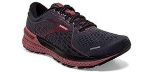 Brooks Women's Adrenaline GTS 21 - Stability Running Shoes for Flat Feet