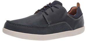 Clarks Men's Lisbon - Casual Shoe for Achilles Tendinitis