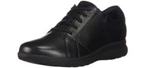 Clarks Women's Un-Adorn - Achilles Tendinitis Casual Sneaker Shoe