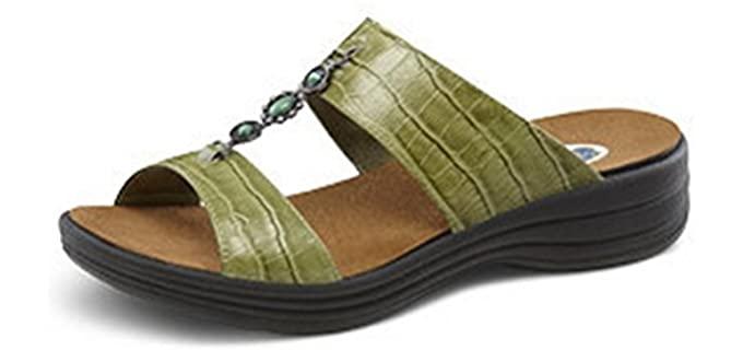 Dr. Comfort Women's Sharon - Extra Depth Wide Width Sandal