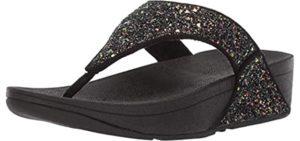 FitFlop Women's Glitter - Thong Sandal for Heel Pain