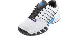 K-Swiss Men's Big Shot 4 - Tennis Shoe for Flat Feet