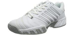 K-Swiss Women's Big Shot 4 - Tennis Shoe for Flat Feet