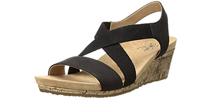 LifeStride Women's Mexico - Arch Supporting Wedge Heel Sandal