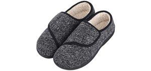 LongBay Men's Furry - Slipper for the Elderly