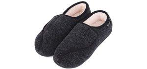 LongBay Women's Furry - Slipper for the Elderly