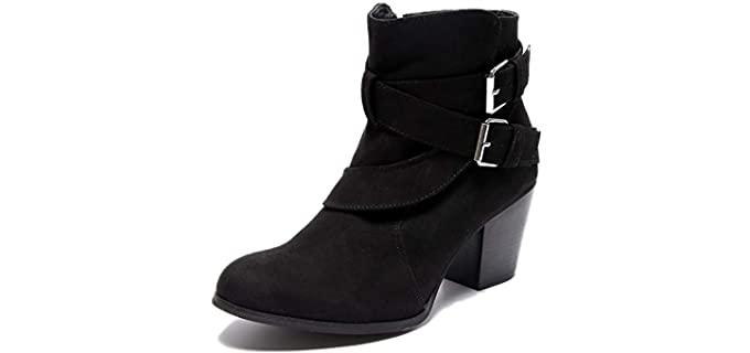 Luoika Women's Plus Size - Wide Width Ankle Boot