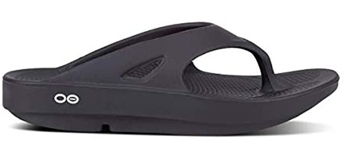 OOFOS Women's OOriginal - Flip Flops with a Rocker Bottom