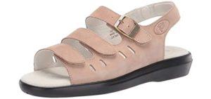 Propet Women's Breeze Walker - Velcro Sandal for Seniors