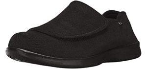 Propet Men's Cush n Foot - Comfy Velcro Shoes for Seniors