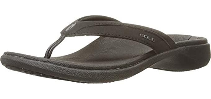 Sole Women's raven - Rocker Sole Flip Flops for Outdoors