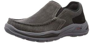Skechers Men's Arch Fit Motley Rolens - Slip On Shoe for Casual Wear
