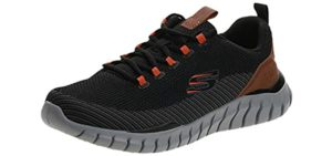 Skechers Men's Overhaul landledge - Wider Width Neuropathy Shoes
