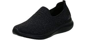 Skechers Women's Ultra Flex Harmonious - Slip On Knit Sneakers