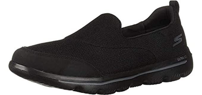 Skechers Women's Go Walk Evolution - Slip On Overweight Support Walking Shoe