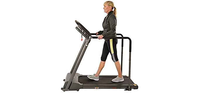 Sunny Health 's Wide Deck - Treadmills for Seniors