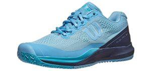 Wilson Women's Rush Pro 3.0 - Round Toe Tennis Sneaker