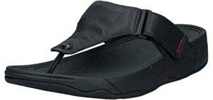 FitFlop Men's Trakk - Thong Sandal for Heel Pain